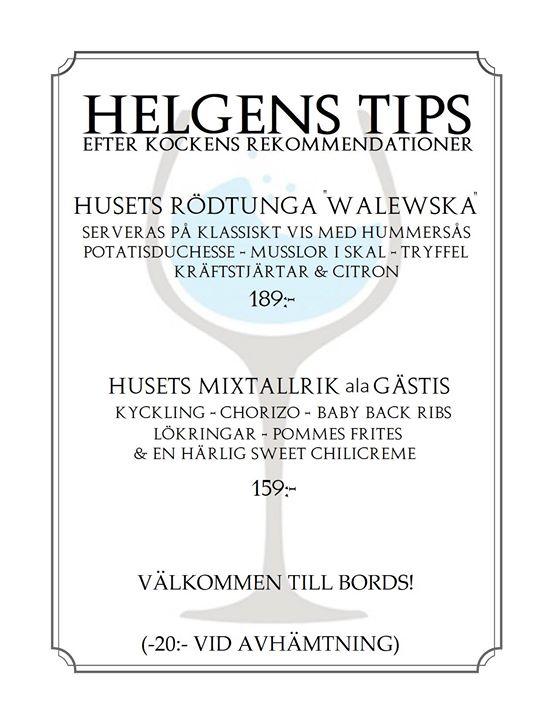 Helgens Tips 5-6-7 Oktober