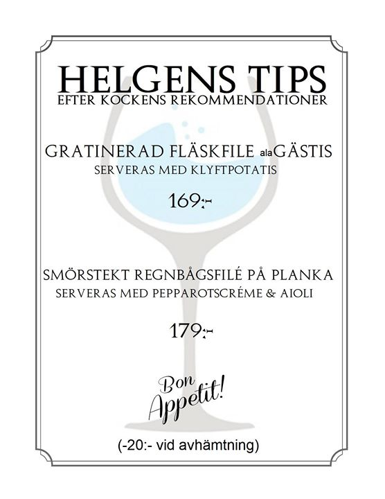 Helgens Tips 21-22-23 september