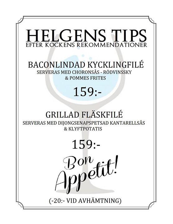 Helgens Tips 7-9 september