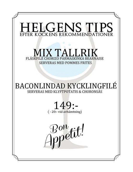 Helgens Tips 25-26-27 maj