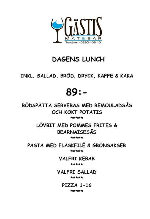 Välkomna att avnjuta en härlig lunch hos oss