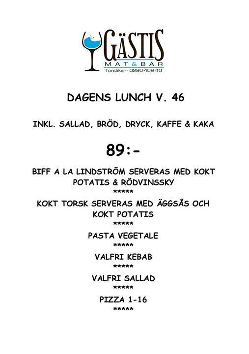 Välkomna på fredags lunch