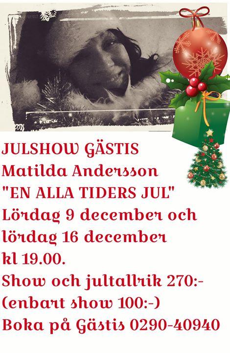 Julshow 9 och 16 december. 9 december börjar bli fullbokad, ett fåtal platser kvar.…