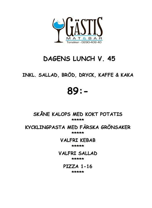 Här kommer fredagens lunch Välkomna!