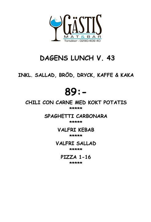 Välkomna och avnjut en härlig lunch hos oss