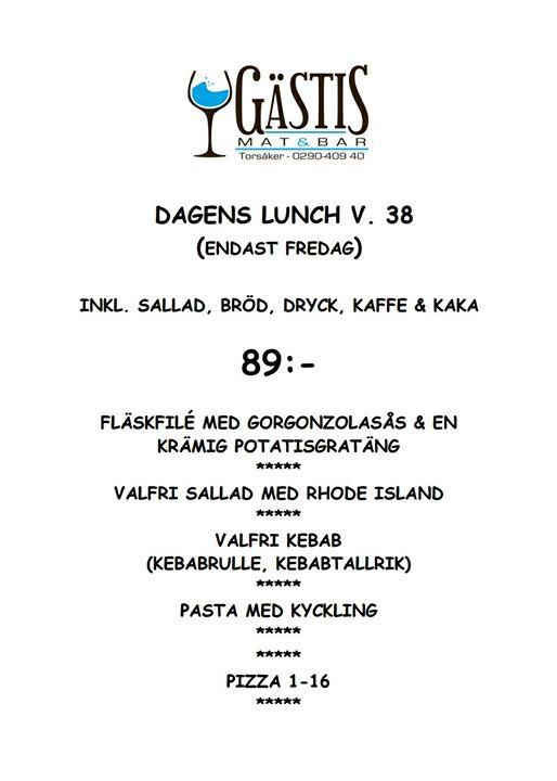 Starta denna gråa fredag med en härlig lunch hos oss på Gästis