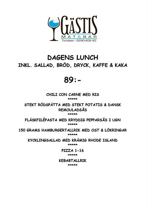 Nu kör vi sista veckan () med luncher på gästis så se till att…
