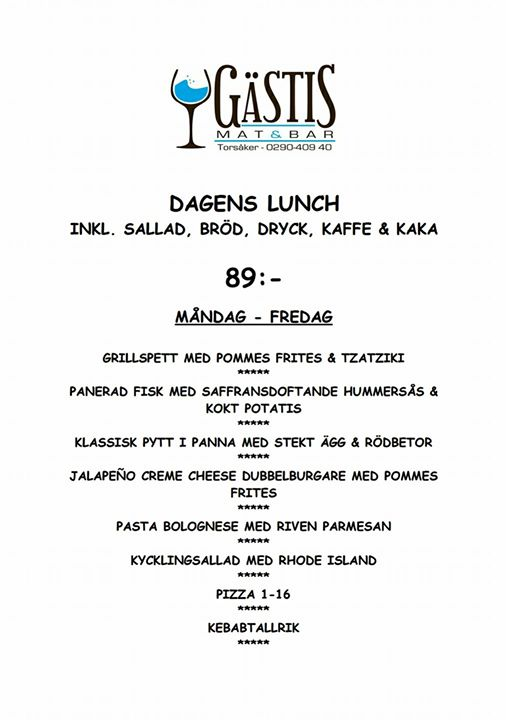 Lunch Menyn för Vecka 33 Välkomna till oss