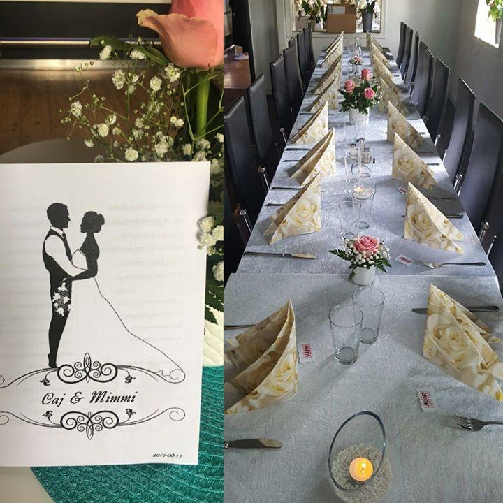 """""""Nu har bröllopsklockor klingat, många vänner hälsning bringat. Våra varmaste lyckönskningar vi sänder och…"""