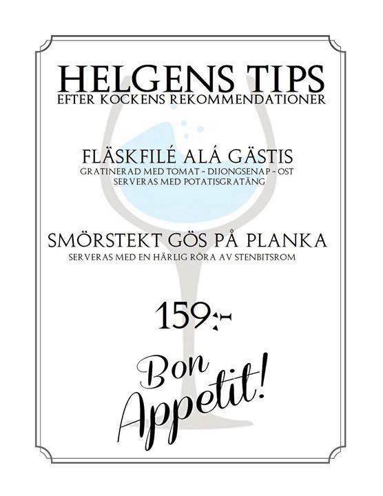 Fredag och HelgTips på Gästis såklart. 8-10 Februari