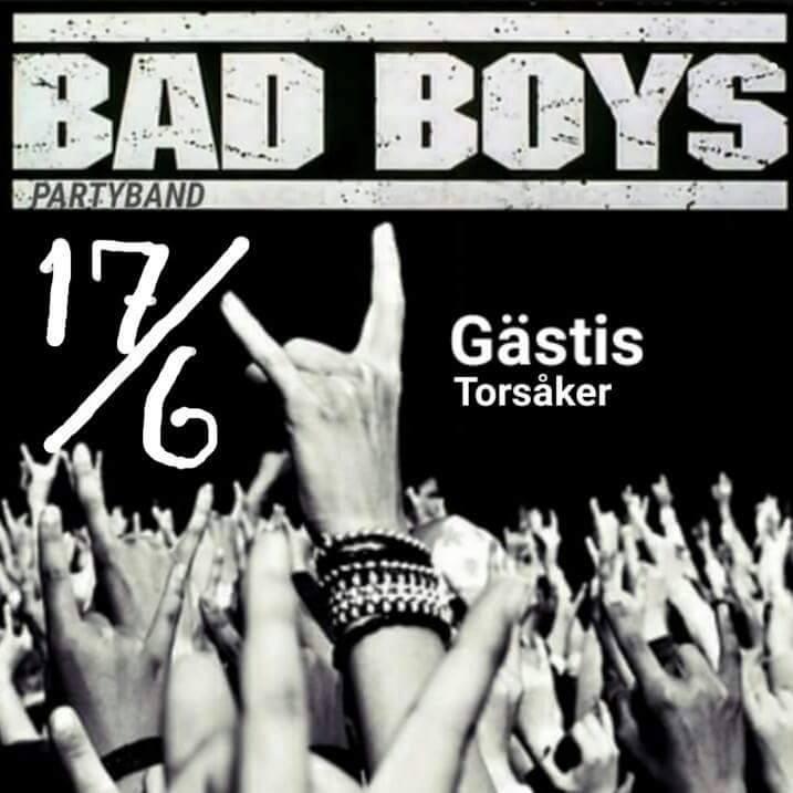 Bad Boys partyband på gästis fredag 17/6!
